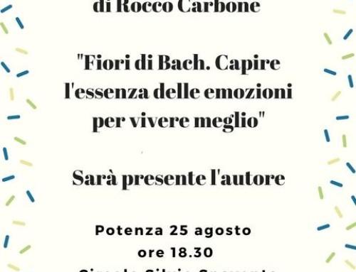 """PRESENTAZIONE DEL LIBRO DI ROCCO CARBONE """"FIORI DI BACH. CAPIRE L'ESSENZA DELLE EMOZIONI PER VIVERE MEGLIO"""" YOUCANPRINT"""