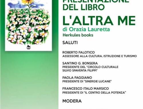 """PRESENTAZIONE DEL LIBRO DI ORAZIA LAURETTA """"L'ALTRA ME"""" HERKULES BOOKS"""