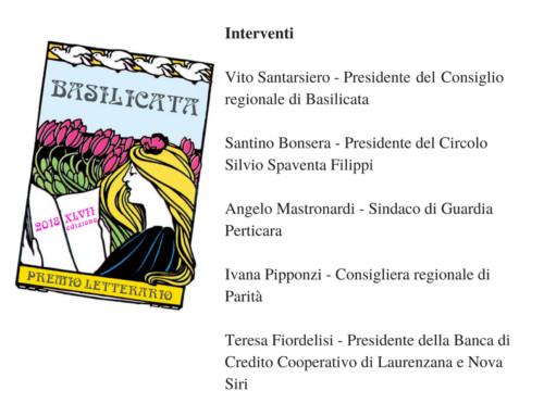 CONFERENZA STAMPA XLVII EDIZIONE PREMIO LETTERARIO BASILICATA