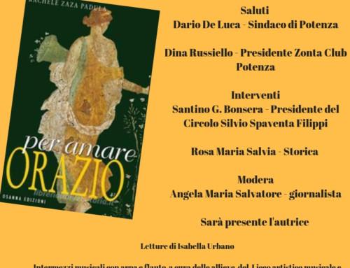"""PRESENTAZIONE DEL LIBRO DI RACHELE ZAZA PADULA """"PER AMARE ORAZIO"""" OSANNA EDIZIONI"""